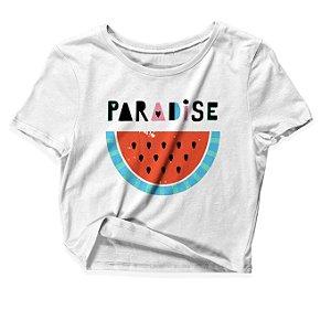Camiseta Cropped Paradise