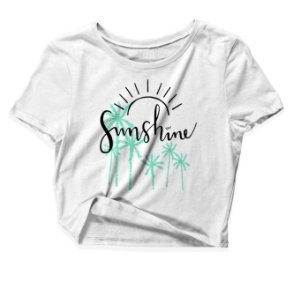 Camiseta Cropped Sunshine
