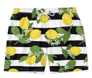 Bermuda Short Praia Verão Lemon