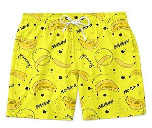 Bermuda Short Praia Verão Banana