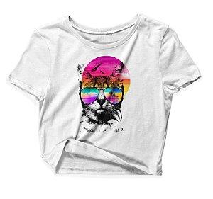 Camiseta Cropped Summer Style Cat