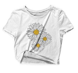 Camiseta Cropped Girassol