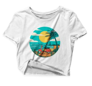 Camiseta Cropped Summer Beach