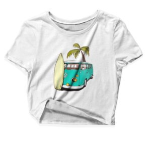 Camiseta Cropped Kombi
