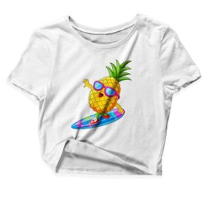 Camiseta Cropped Summer Pineapple Surf