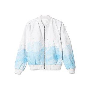 Jaqueta Bomber Tie Dye Céu