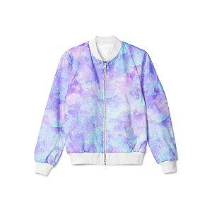 Jaqueta Bomber Tie Dye Roxo Azulado
