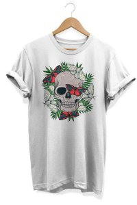 Camiseta Unissex Tropical Skull