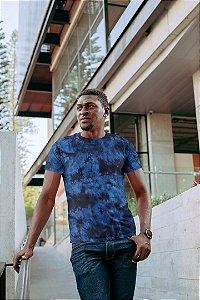 Camiseta Unissex Tie Dye Azul