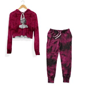 Kit Cropped e Calça Tie Dye Rosa