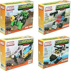 Kit Bloco de Montar Guardians 4 Veículos