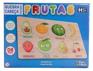Quebra Cabeca 8 Pecas Infantil Encaixe Frutas