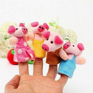 Dedoche dos 3 porquinhos - 8 peças