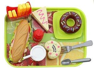 Hora Do Lanche 16 Pecas De Plastico Fast Food