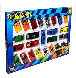 Carro Colecao De Plastico Roda Livre 25 Pecas