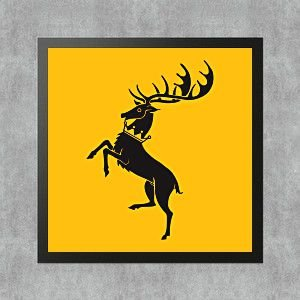 Quadro Game of Thrones House Baratheon Casa Baratheon