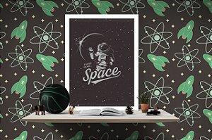 Quadro Decorativo para Quarto Infantojuvenil Temático Space Astronaut
