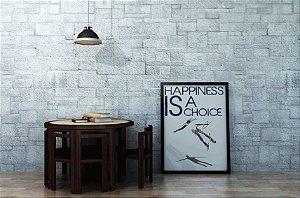 "Quadro Decorativo Motivaciona ""Happiness is a Choice"""