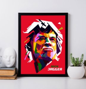 Quadro Decorativo Tematico Rock Musical Mick Jagger - The Rolling Stones