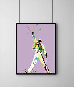 Quadro Decorativo Temático Musical Abstract Freddie Mercury - Queen