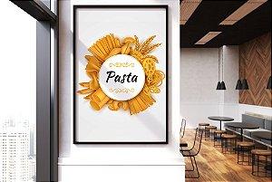 """Quadro Decorativo Temático Cozinha Italiana """"Pasta - Macarrão"""""""