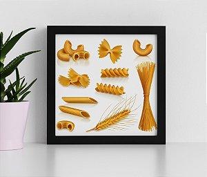 Quadro Decorativo Para Cozinha , Tipos de Macarrão