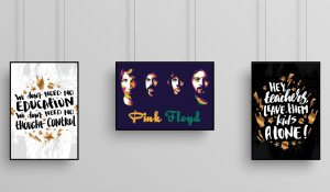 """Kit 3 Quadros Decorarativo Temático Musical """"Another Brick in the Wall"""" - Pink Floyd"""