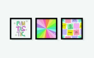 Kit 3 Quadros Decorativos Infantis Colorful Arts
