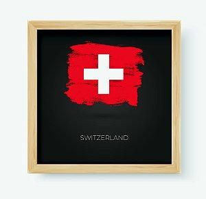 Quadro Decorativo Infantil/Juvenil País Switzerland