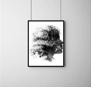 Quadro Decorativo Abstrato Side Profile Face Abstract