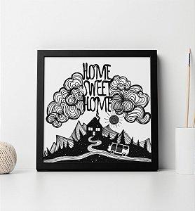 """Quadro decorativo """"Home sweet home"""""""