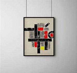 Quadro Decorativo Abstract Geometric Art In The Bauhaus Tradition