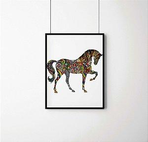 Quadro Decorativo Abstrato Horse And Rainbow