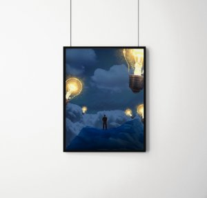 Quadro Decorativo Imaginary Dreamlike Motivational Illustration