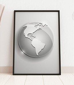 Quadro Decorativo Globe Icon Of The World
