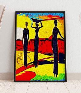 Quadro Decorativo Abstract Africa Retro Vintage Style