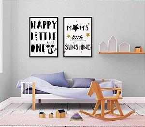 Kitt 2 Quadros Decorativo Infantis Happy Little One And Mom's Little Sunshine