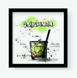 Quadro Decorativo Gourmet Caipirinha