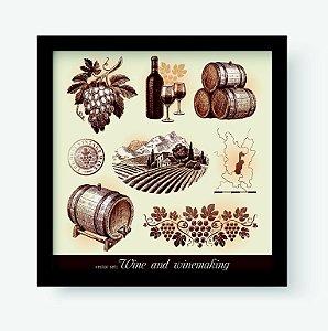 Quadro Decorativo Gourmet Wine And Winemaking