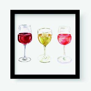 Quadro Decorativo Gourmet Wines Glasses