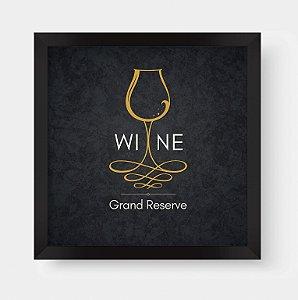 Quadro Decorativo Gourmet Wine Grand Reserve