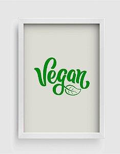 Quadro Decorativo Gourmet Vegan Lettering Sign