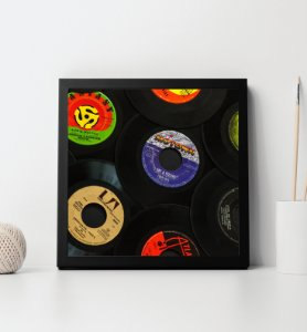 Quadro Decorativo Discos de Vinil