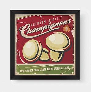 Quadro Decorativo Gourmet Vintage Champignons