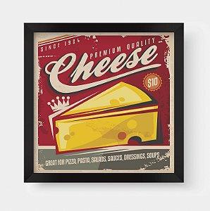 Quadro Decorativo Gourmet Vintage Premium Quality Cheese