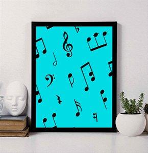 Quadro Decorativo Musical 1- Notas Musicais.