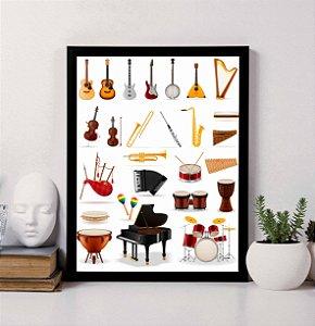 Quadro Decorativo Musical - Instrumentos Musicais 1
