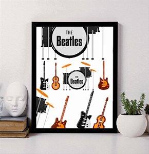 Quadro Decorativo Musical - Instrumentos Musicais The Beatles.