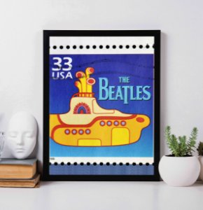 Quadro Decorativo Musical - The Beatles Yellow  Submarine