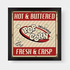 Quadro Decorativo Gourmet Vintage Hot &Buttered Pop Corn
